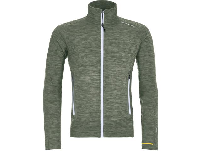 Ortovox Merino Fleece Light Melange Jacket Herre green forrest blend
